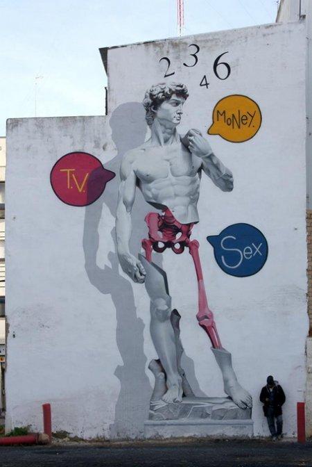 Работы уличного художника Man-o-Matic.