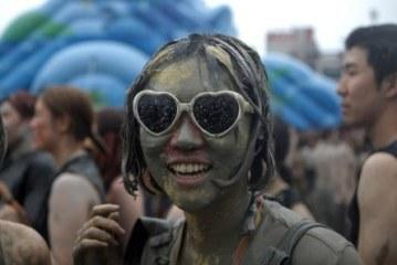 Фестиваль грязи в Южной Корее.